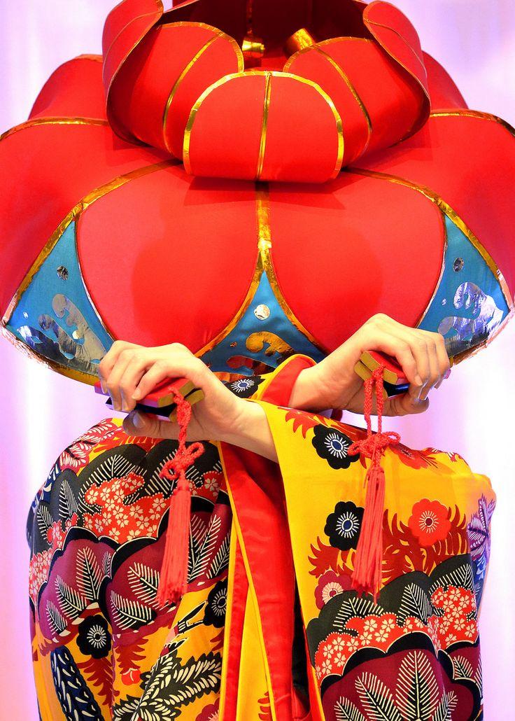 Ryukyu Traditional dancing.  Okinawa Japan.