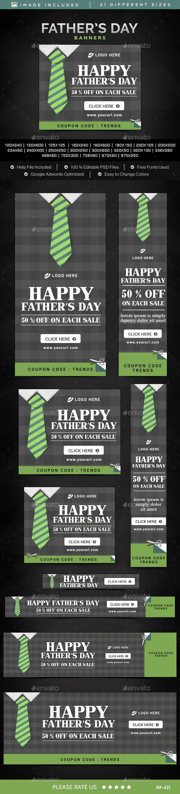 Father's Day Sale Banners - #Banners & #Ads #Web #Elements Download here: https://graphicriver.net/item/fathers-day-sale-banners/11742264?ref=alena994