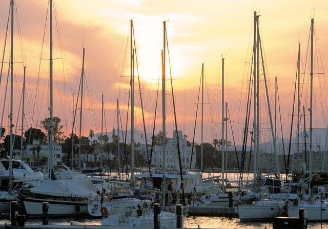 Kos town,marina sunset