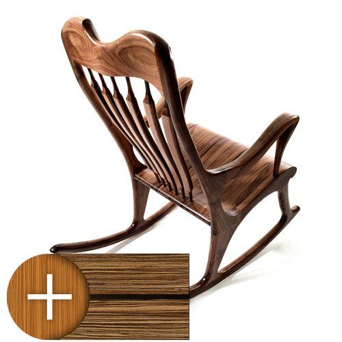 Chaise berçante Ekko noyer noir / acc. de wengé. #chaisebercante https://www.maxpoisson.com/noyer-noir-accent-de-wenge