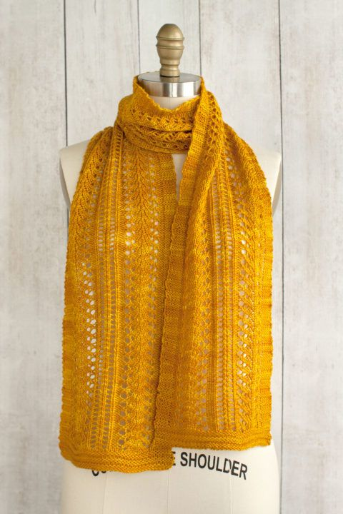Sage Smudging Scarf Free Knitting Pattern from Manos del Uruguay.