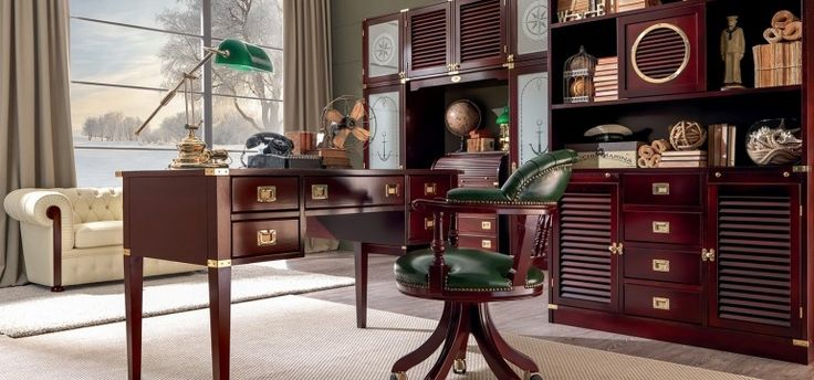 Classic Mahogany home office   caroti design mag