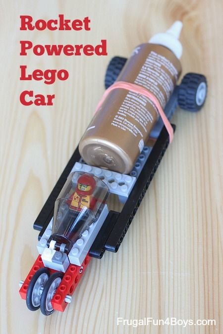 How to Build a Rocket Powered Lego Car - This car blasts off with a satisfying whoosh and travels over 30 feet!