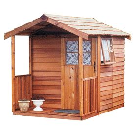 Cedarshed Gardener's Delight Gable Cedar Storage Shed (Common: 6-ft x 9-ft; Interior Dimensions: 5.33-ft x 8.62-ft)