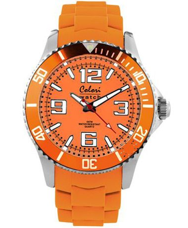 COLORI Cool Steel Orange Silicone Strap Τιμή: 56€ http://www.oroloi.gr/product_info.php?products_id=34904