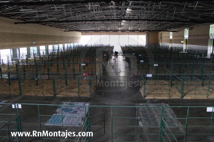 Montaje Corrales Portátiles en Corferias . Nacional Cebú, Feria de las Colonias, ExpoGanadera,