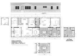 Floor Plans For Mobile Homes Double Wide 24x60 4 Bedrooms