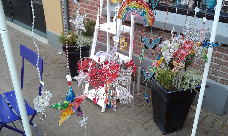"Our light catchers can now be found in the #Dutch shop ""Het Heksenhuuske"" in the town of #Deventer. I am certain our #lightcatchers help spread some light and love all the way over there in The Netherlands."