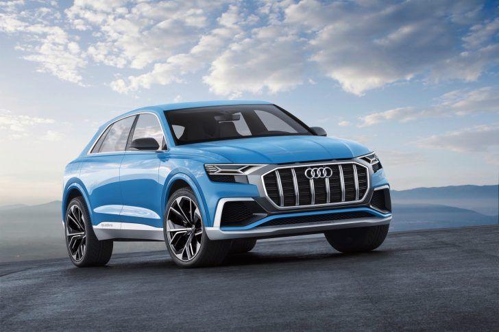 2018 Audi Q8 Concept Blue Facelift