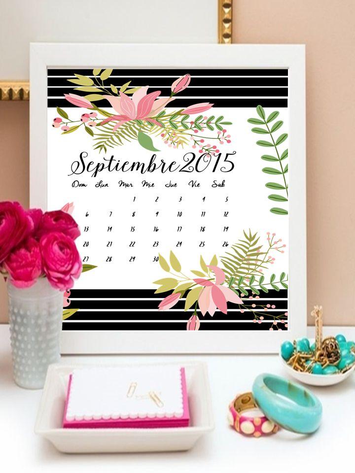 Calendario: Septiembre 2015 gratis.    THEBBT#calendario #freebies