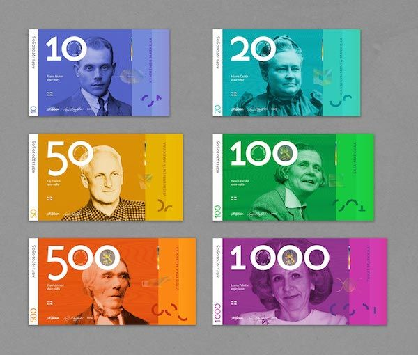 Finnish Banknotes Get An Eye-Catching Makeover That Embraces Gender Equality - DesignTAXI.com
