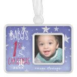 Blue Star Ombre Baby 1st Christmas Ornament #Texas