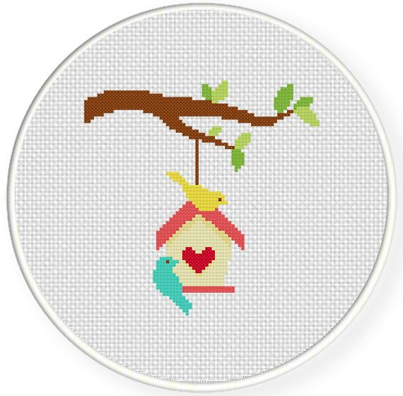 FREE for Jan 25th 2015 Only - Little Birdhouse Cross Stitch Pattern