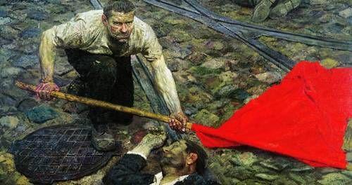 Anthem of the People's Love. Stalin-era (1950-51). Painted by Oleksi Shovkunenko, Platon Biletsky, & Igor Reznik. Oil on canvas, 400x600 cm.