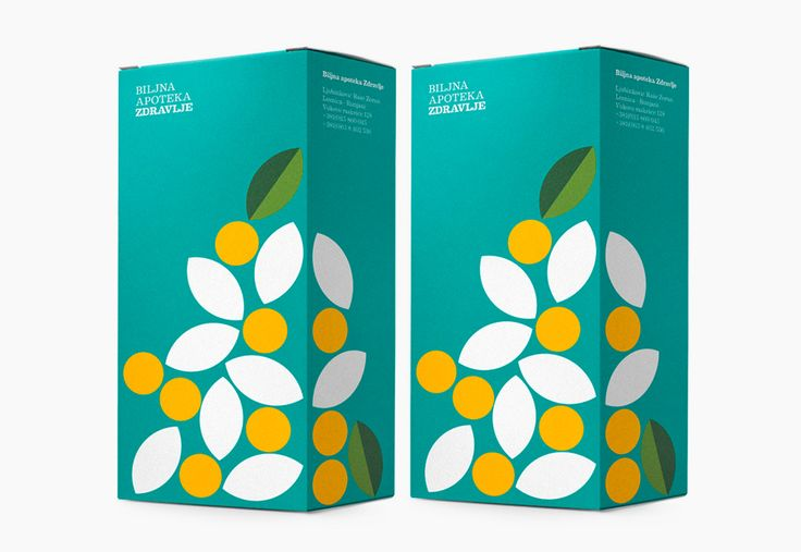 Packaging for herbal pharmacy Zdravlje designed by Peter Gregson