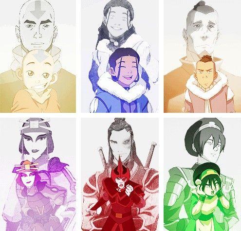 Aang, Katara, Zokka, Suki, Zuko & Toph - Avatar el Ultimo Maestro Aire