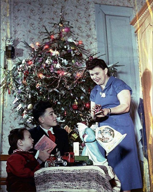 Фото из СССР. Часть 7. Новый год! 1950-е | Retro christmas ...