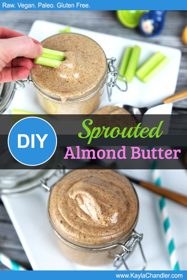 How to Make Sprouted Almond Butter - Much Better than Roasted! #glutenfree