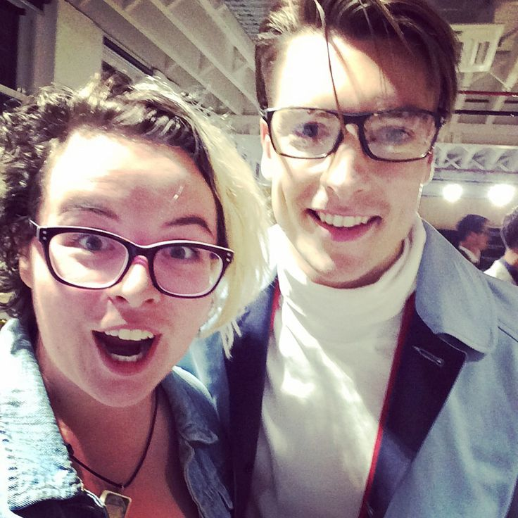 March 2015  Backstage at the American Crew All Stars Challenge Runway.  Stylist: Andrew Zumbo Model: James from London Management  Hardy Amies Healy Optical