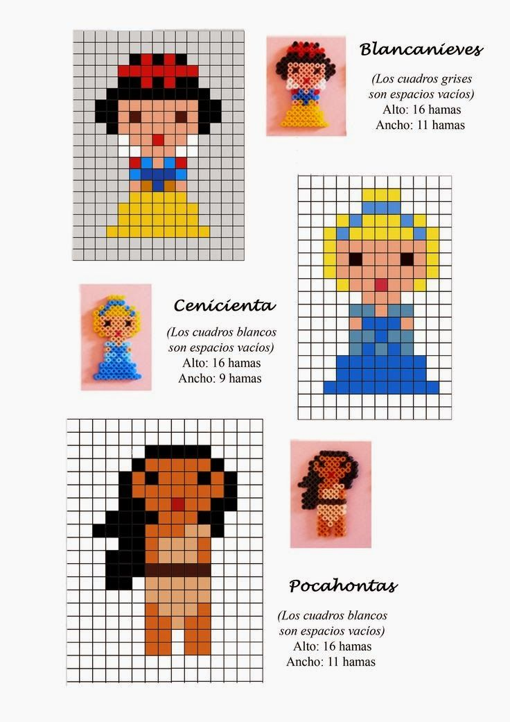 Disney Princess Hama Beads Pattern post by wememade