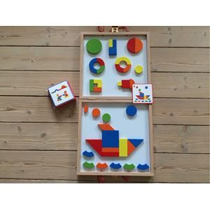 Djeco, brætspil, Geoform magneter i kuffert.  Sjov leg med