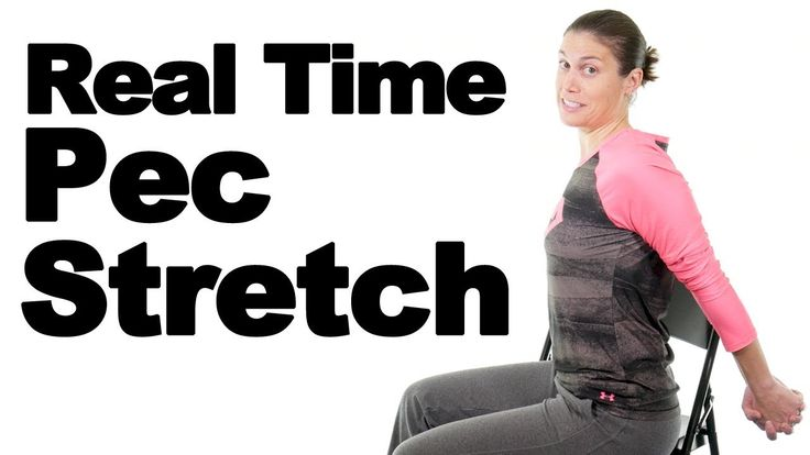 Chest stretches or Pec stretches are a great way to help open up your chest area. It not only helps with posture, but it also helps with breathing. More Pec stretches: https://www.youtube.com/watch?v=NePr1XKRTLU&index=5&list=PLPS8D21t0eO_aKBiXrRDEvPM3hRzXUJQd  Tight chest muscles can also cause pain in the neck and shoulders.
