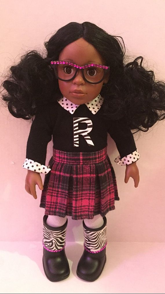 Personalized Preppy School Girl by LanaDollCreations on Etsy