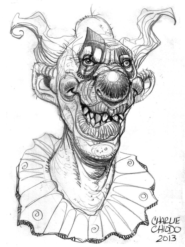 killer clown kleurplaat griezels kleurplaten