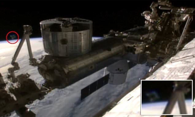 The 'UFO' sighting near the International Space Station has sparked debate among conspiracy theorists who believe the feed was cut as part of an alien cover-up being conducted by Nasa.