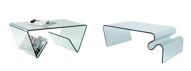 Tavolini in vetro trasparente curvato con portariviste http://shop.bertoliarredamenti.it/arredamento/complementi/tavolini-complementi/