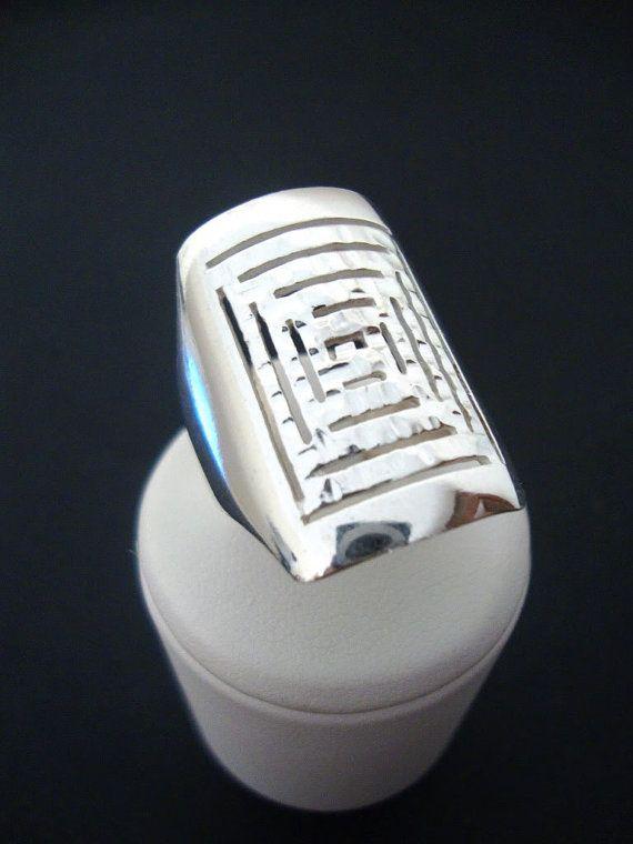 Sterling silver 925 Greek Key Meander Design by SilveradoJewellery, €42.00