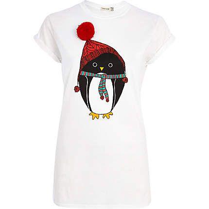 White Penguin pom pom t-shirt - print t-shirts / tanks - t shirts / tanks / sweats - women