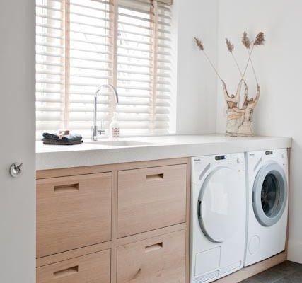 Arbeitsplatz mit Waschmaschine