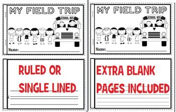 Field Trip Writing Packet - Everything you need for your students to reflect on their recent field trip.  Graphic organizers, themed writing paper, 1/2 sheet booklets, reflection paper and long feedback sheet. Suitable for all elementary grade levels.