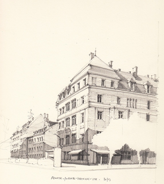 By Flaf · Beautiful SketchesArchitectural SketchesSketch InspirationArt  SketchbookPencil DrawingsArt SketchesArchitecture ArtDrawing IdeasSketching