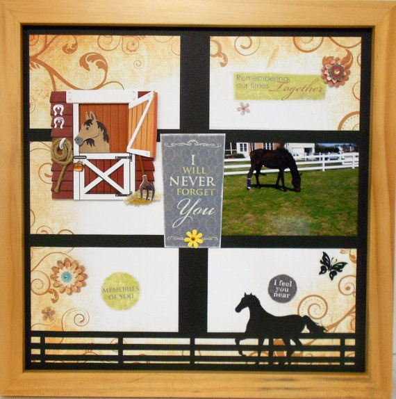 Remembering My Horse Shadow Box by theshadowbox on Etsy, $40.00