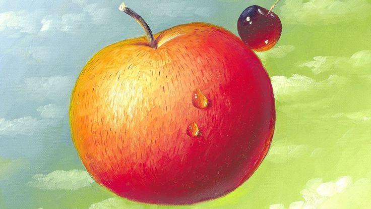 """Ölmalerei Anleitung """"Der fliegende Apfel"""" von Herdin Radtke"""