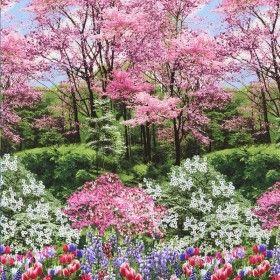 Large Scale Botanic Garden - Timeless Treasures Stoffen