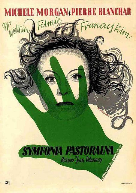 1947 Polish poster for LA SYMPHONIE PASTORALE (Jean Delannoy, France, 1946)    Artist: Henryk Tomaszewski (1914-2005)