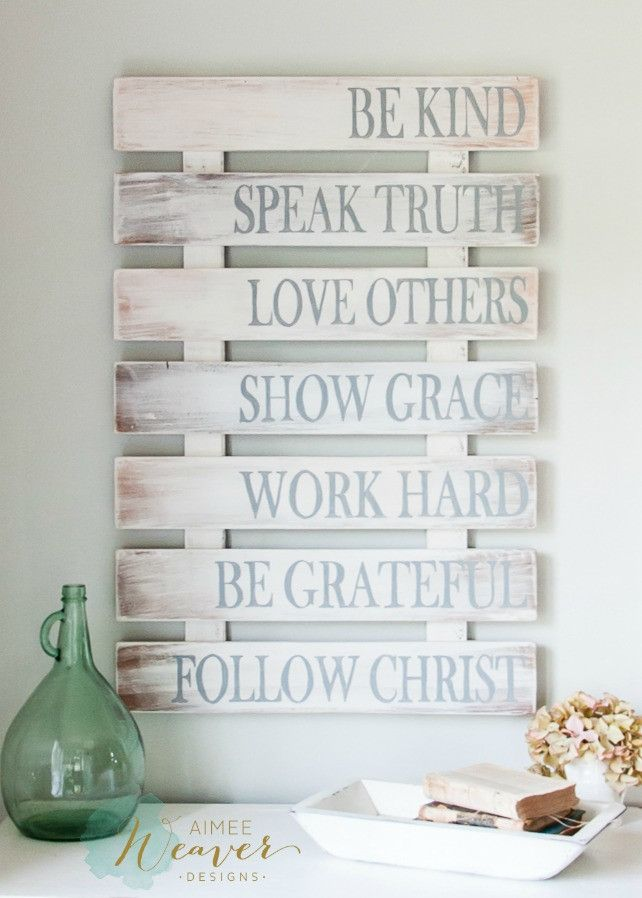 Recycled+Pallet+Family+Rules+Wood+Sign+Décor