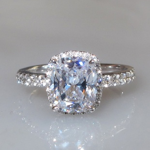 Radiant cut micropave halo ring ... make it a double halo and i would love it even more!!