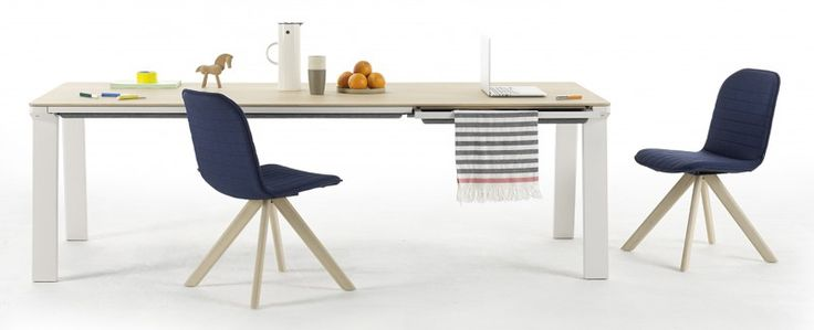 kuchenmobel top tip : Kitchen table with integrated hidden drawers for laptops, papers and ...