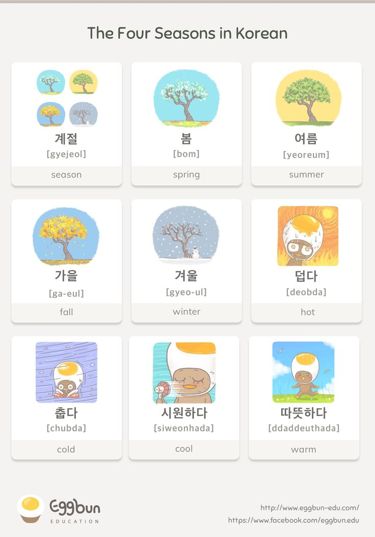 The Four Seasons in Korean Chat to Learn Korean …