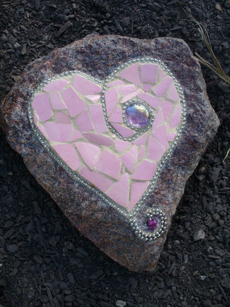 Lovely pink heart #mosaic #hearts