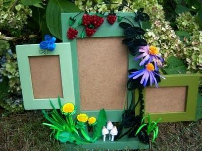 Quilled Summer Blooms Picture Frame Tutorial   Suzy's Artsy Craftsy Sitcom