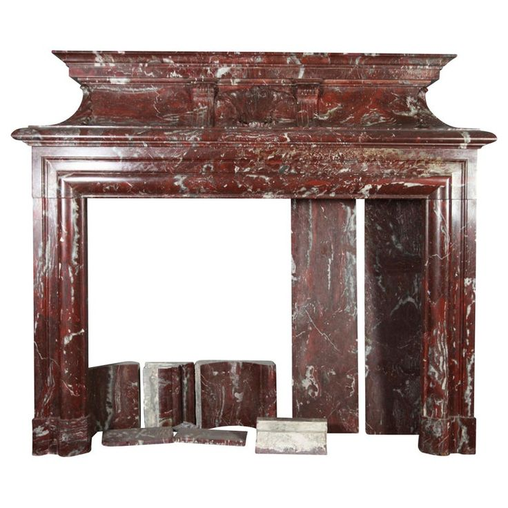 1stdibs Fireplace / Mantel – Fine European Grand Reception Hall Vintage Surround French Marble