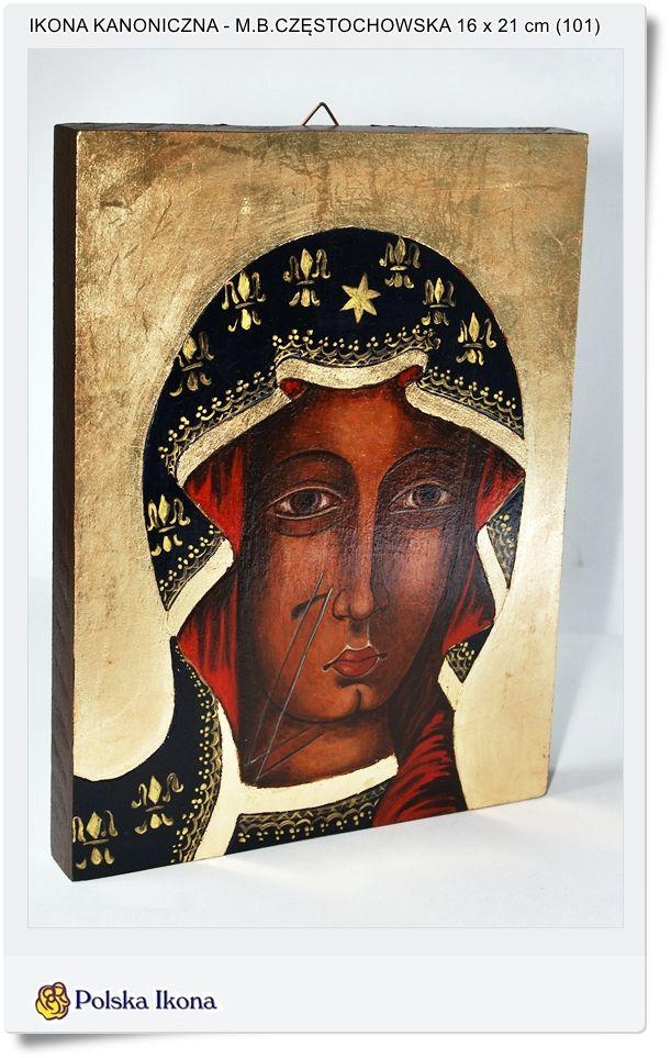 Ikona malowana zgodnie z kanonem Matka Boża Częstochowska