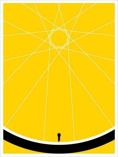 jason munn #bike #wheel #cropping #yellow #poster