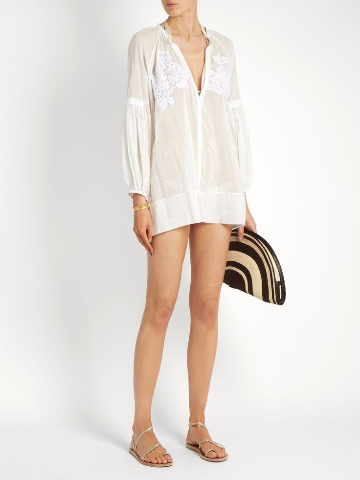 Cotton-blend voile cover-up | Lila Eugenie | MATCHESFASHION.COM