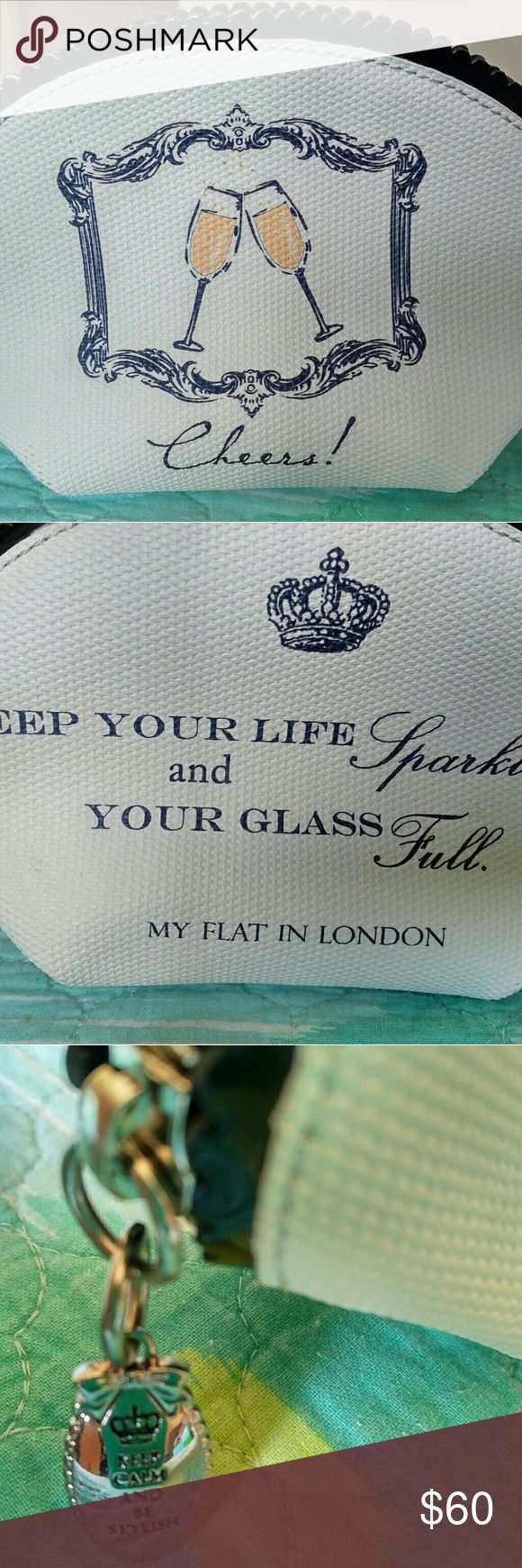 Brighton My Flat in London Cheers small bag New with tags MFIL small makeup or accessories bag.  No longer available at Brighton stores. My Flat in London Bags Cosmetic Bags & Cases